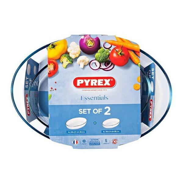 Set of Oven Dishes Pyrex Essentials Borosilicate Glass (2 pcs)
