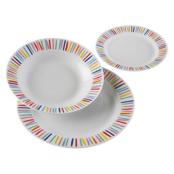Dinnerware Set Vanna Colour Porcelain (18 Pieces)