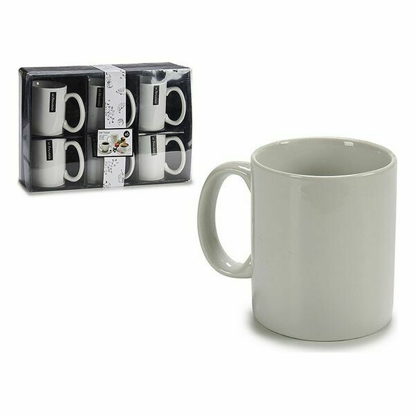 Set of Mugs Porcelain (6 Pieces) (8 x 9,6 x 12 cm)