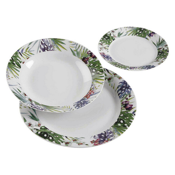 Dinnerware Set Tropical Porcelain (18 Pieces)