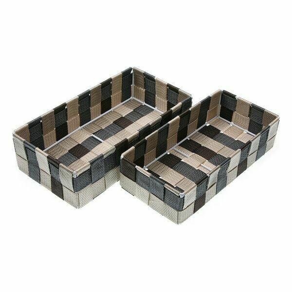 Multi-purpose basket Rectangular polypropylene (2 Pieces)