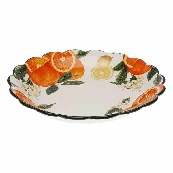 Fruit Bowl Orange Dolomite (32,5 x 5,7 x 32,5 cm)
