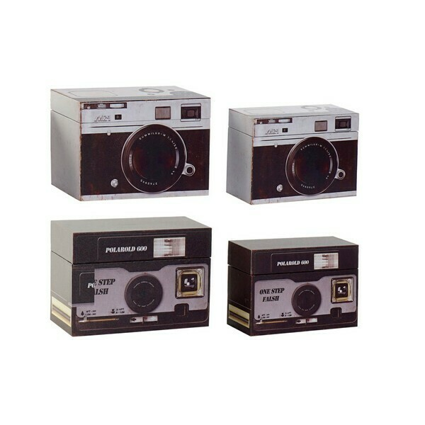 Multi-use Box Dekodonia MDF Wood Photo camera (2 pcs)