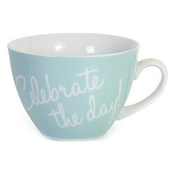 Ceramic Mug Santa Clara Celebrate the Day Porcelain Blue 450 cc