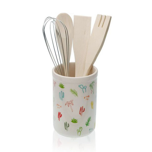 Pot for Kitchen Utensils Ceramic (10 x 15 x 10 cm)