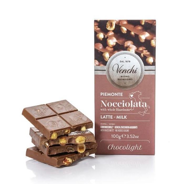 TAVOLETTA NOCCIOLATA LATTE CHOCOLIGHT 100 gr
