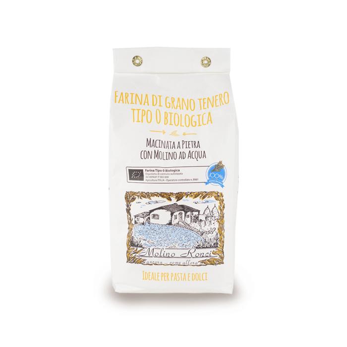 """FARINA BIO DI GRANO TENERO TIPO """"0"""" RONCI 1 kg"""