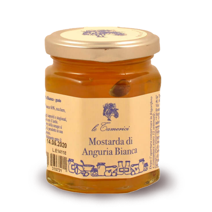 MOSTARDA DI ANGURIA BIANCA 120 gr