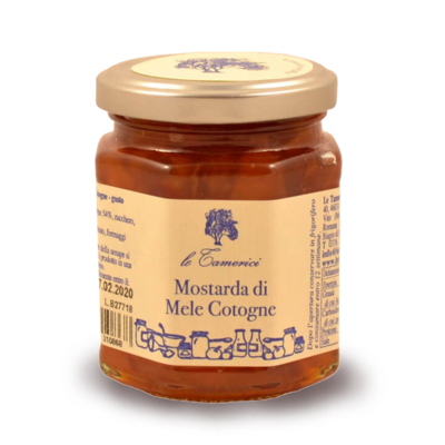 MOSTARDA DI MELE COTOGNE 120 gr