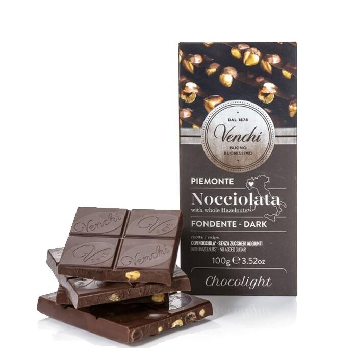 TAVOLETTA NOCCIOLATA FONDENTE CHOCOLIGHT 100 gr