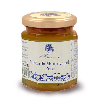 MOSTARDA MANTOVANA DI PERE 220 gr