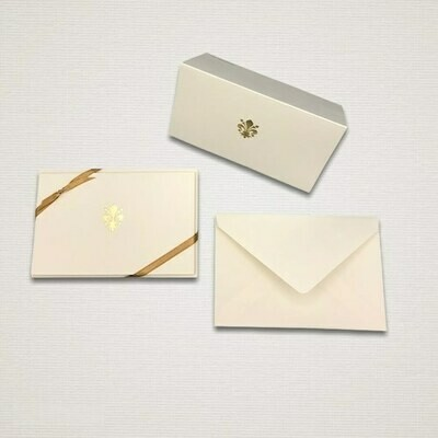 5 cards and 5 envelopes GIGLIO D'ORO