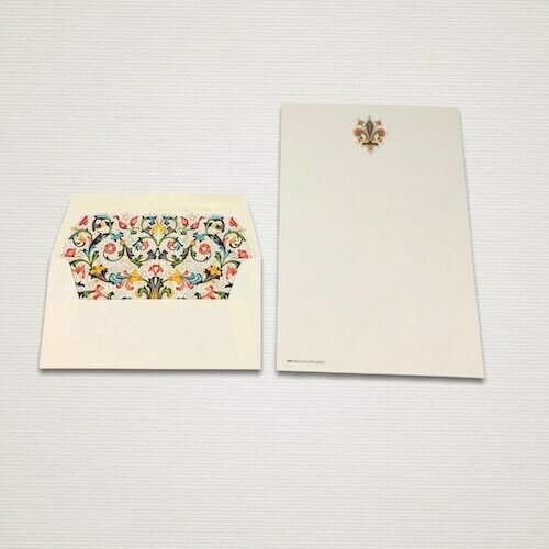 Carta da lettere 6 fogli e 6 buste FIORENZA con giglio di Firenze