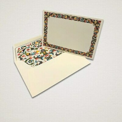 6 cards and 6 envelopes FIORENZA with a decorated frame