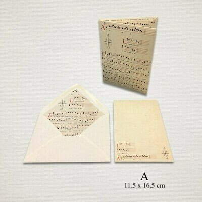 10 cards and 10 envelopes MUSICA