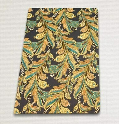 Notebook with gold cut BLUE PAISLEY