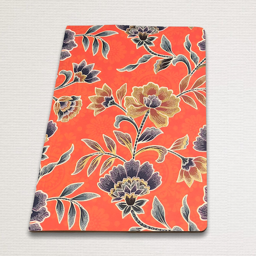 Notebook with gold cut FLOWER BATIK