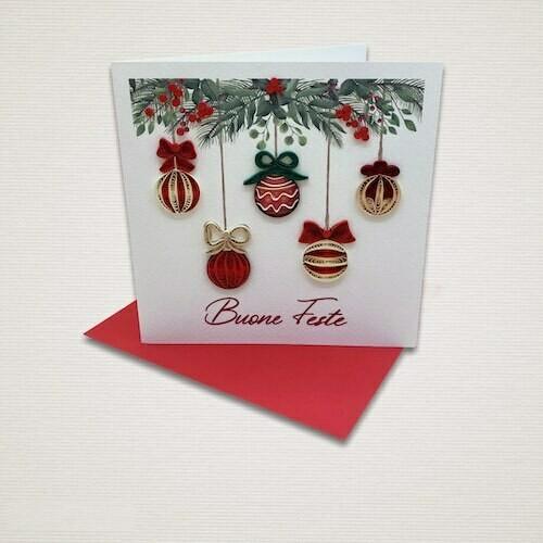 Cartolina di Natale ADDOBBI NATALIZI