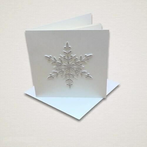 Cartolina di Natale FIOCCO DI NEVE