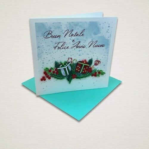Cartolina di Natale DONI NATALIZI