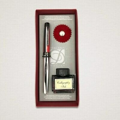 Fountain pen STRIPED RED & BLACK