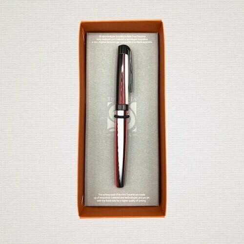 Ink Roller pen STRIPED RED & BLACK