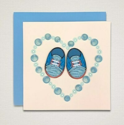 Greeting card newborn 'BOY'