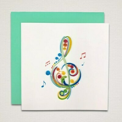 Greeting card 'MUSICAL KEY'