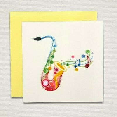 Greeting card 'SAXOPHONE'