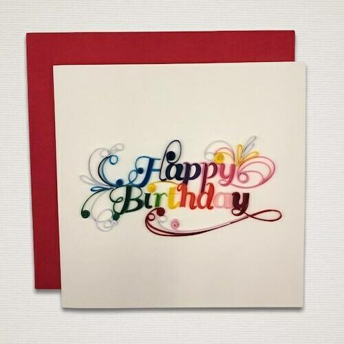Cartolina 'HAPPY BIRTHDAY'