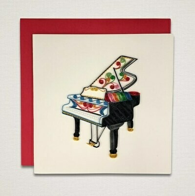 Greeting card 'PIANO'