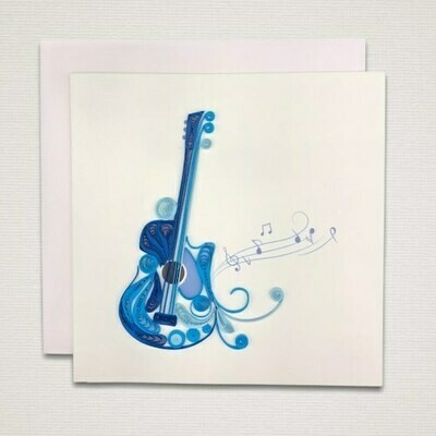 Greeting card 'GUITAR'