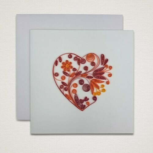 Greeting card 'RED HEART'