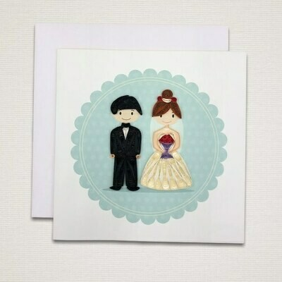 Greeting card 'WEDDING'