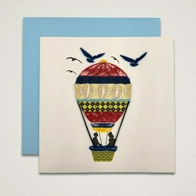 Greeting card 'HOT AIR BALLOON'