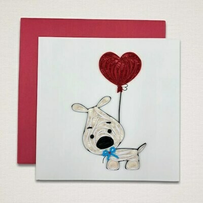 Greeting card 'WHITE TERRIER'