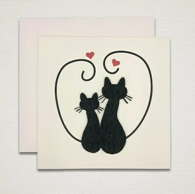 Greeting card 'BLACK CATS'