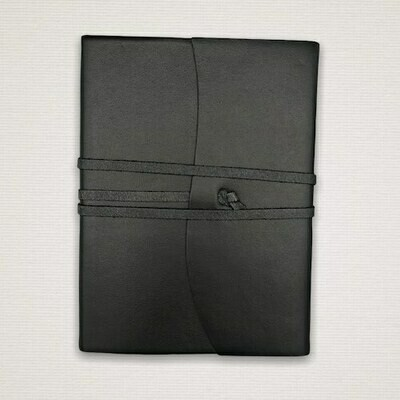 Diary with marbled cut edges black