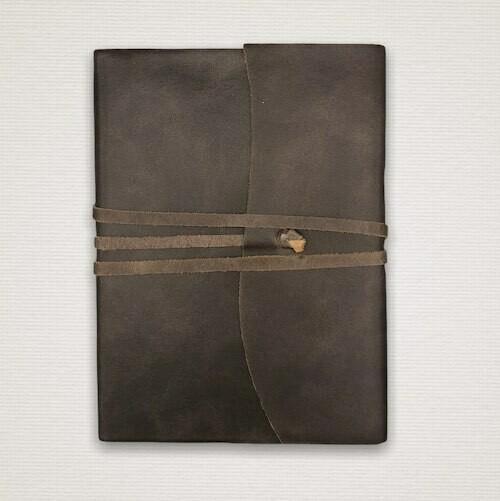 Diario con taglio marmorizzato marrone