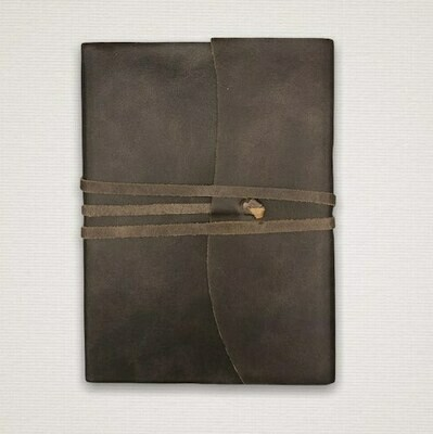 Diary with marbled cut edges dark brown