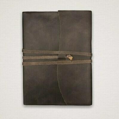 Notizbuch mit marmoriertem Schnitt dunkelbraun