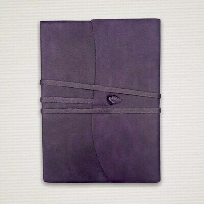 Diary with marbled cut edges purple
