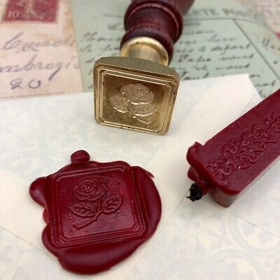 Seal with a rose