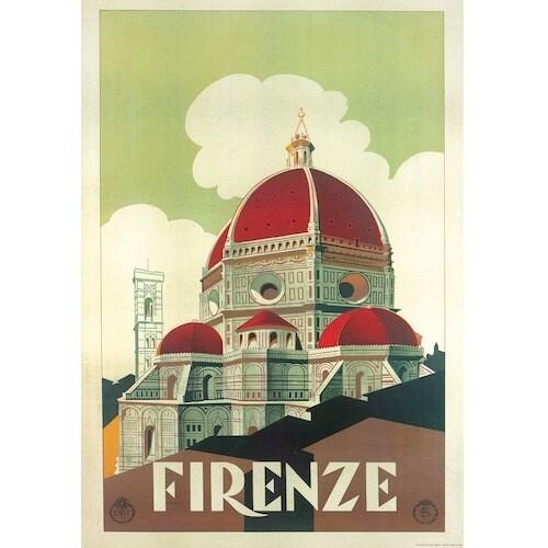 Poster FIRENZE VINTAGE