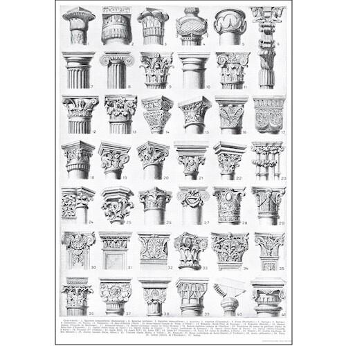 Poster ARCHITETTURA CAPITELLI