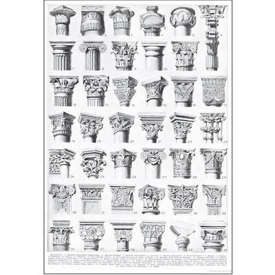 Poster ARCHITECTURE CAPITALS