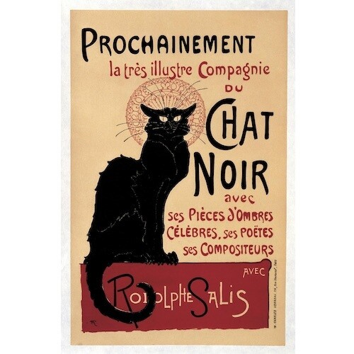Poster VINTAGE CHAT NOIR
