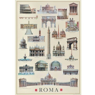Poster ARCHITECTURE OF ROME