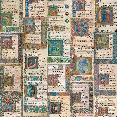 Wrapping paper MEDIEVAL CODEX