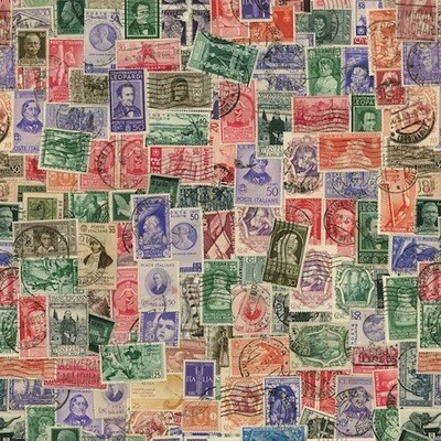 Wrapping paper POSTAGE STAMPS